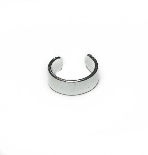 Кафф плоский - размер средний, серебро 925 фото 1 Аmorem