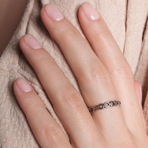 Кольцо Модульное, серебро 925 фото 1 Аmorem